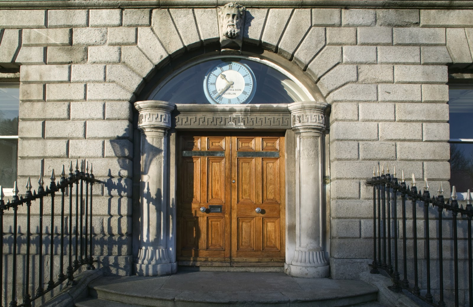 The clock above the front entrance to the College is a beautiful eye-catching sky blue colour much like Dublin\u0027s sky these last few sunny days. & Above the College Door   Heritage Collections of the Royal College ...