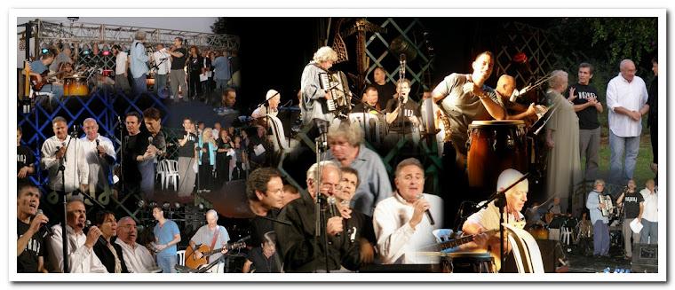 """כנס לוחמי הנח""""ל בבית גבריאל 2008. הופעה של וותיקי הלהקה."""