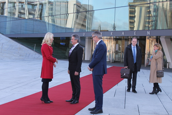 HRH Crown Princess Mette Marit and Mayor Fabian Stang  attends opening of NIMAs the 100th anniversary conference