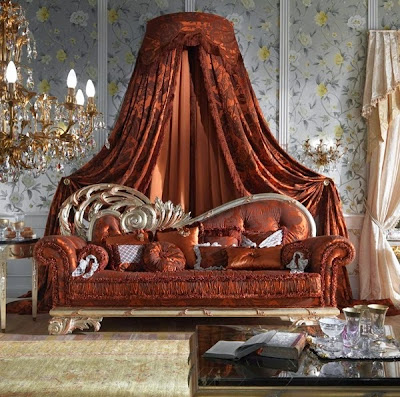 Royal style sofa with canopy