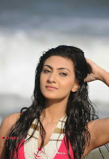 Actress Neelam Upadhyay  Wet Picture Gallery in Pink Bikini Top 0015.jpg