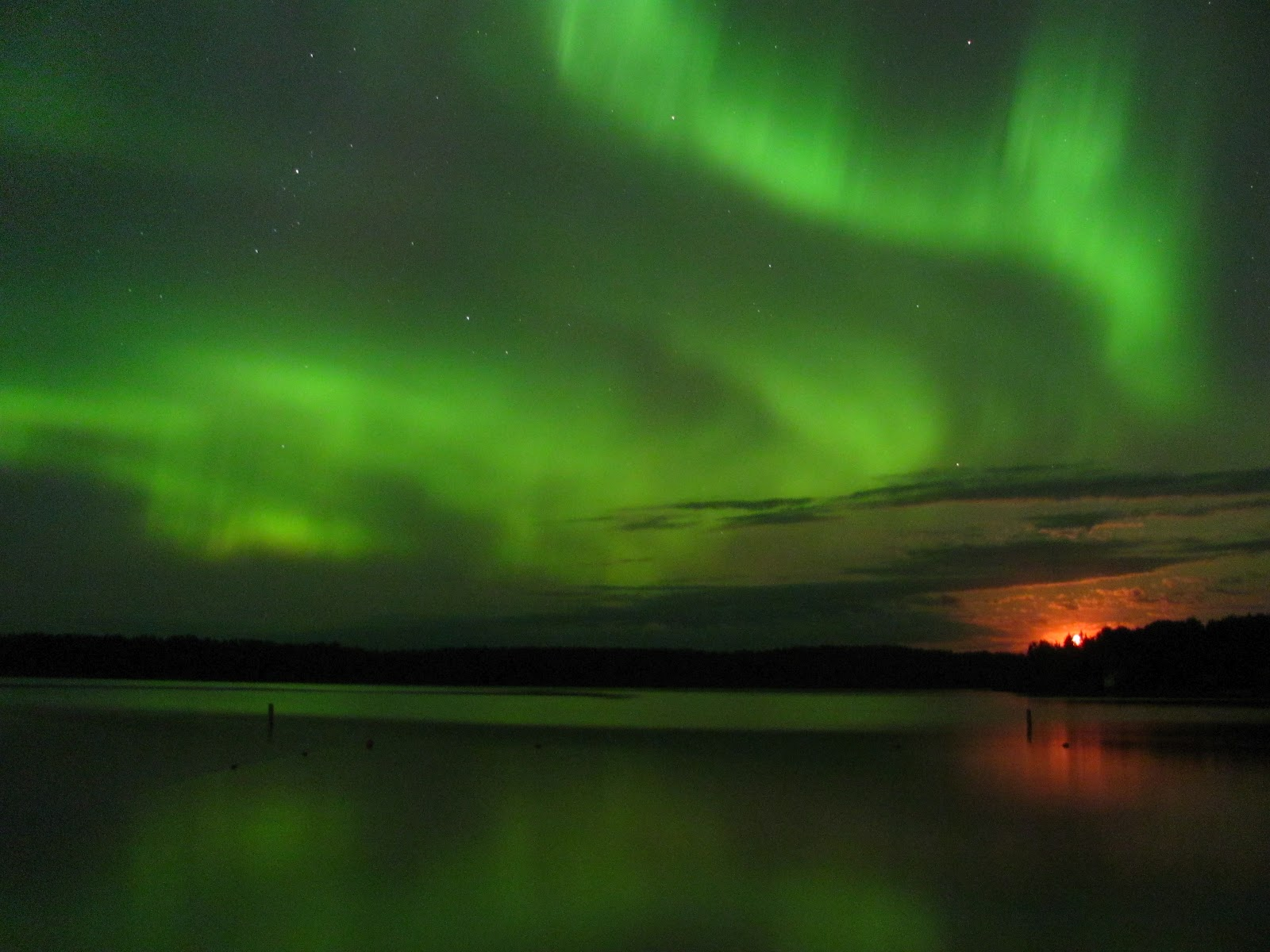 The northern lights are a common cause of electromagnetic interference
