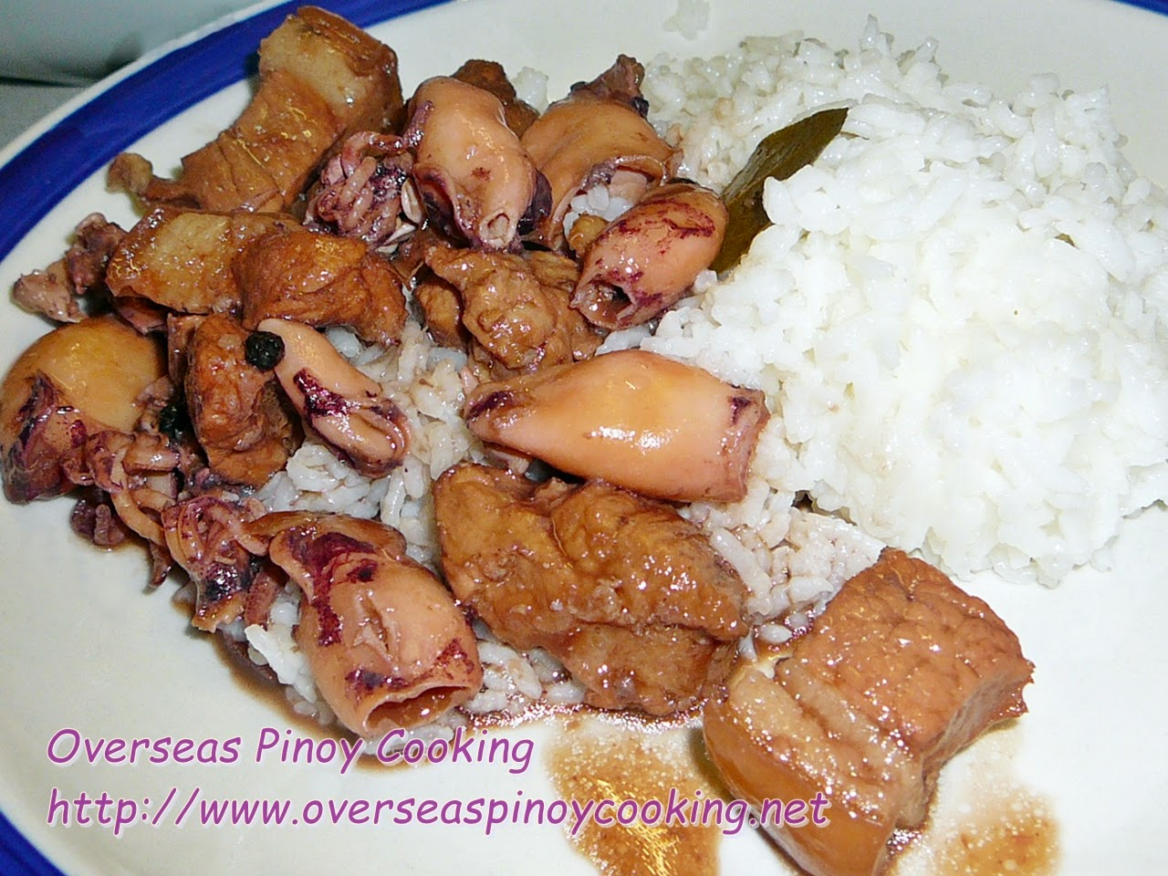 Squid and Pork Adobo Rice