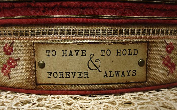 vintage box, vintage cross stitch embroidery