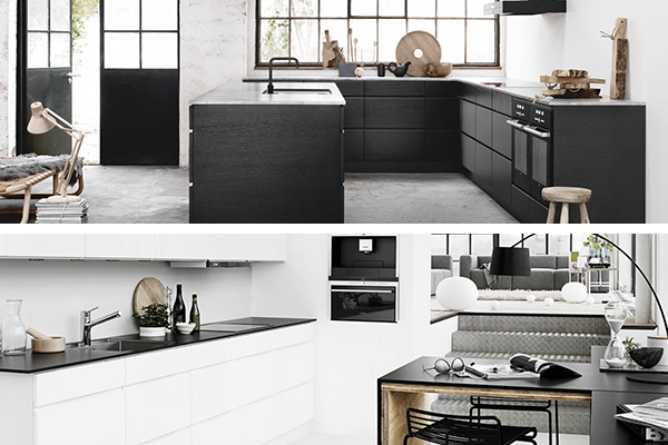 Black Kitchen Cabinet