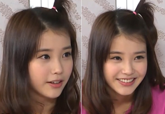 News Iu Adorable Apple Hairstyle Becomes Hot Topic Daily K Pop