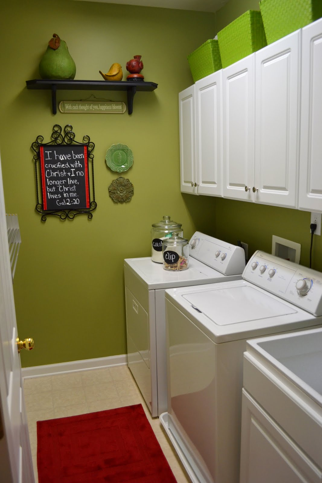 House tour the laundry room worthing court for Painting ideas for small laundry room