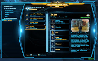SWTOR Patch 1.7 Galactic Reputation UI