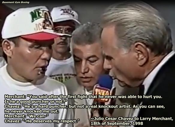 Cesar Chavez Quotes Gorgeous Basement Gym Boxing Julio Cesar Chavez Rates Oscar De La Hoya
