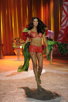 Adriana Lima hot in red lingerie