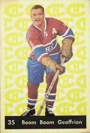 boom boom geoffrion montreal canadiens 1961-62 parkhurst