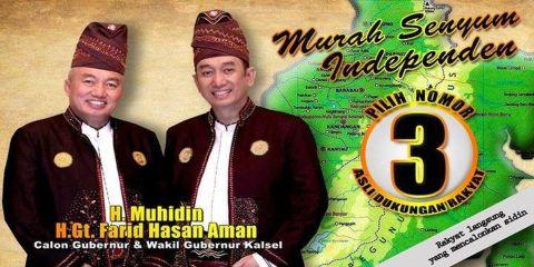 "Muhidin Farid ""Murah Senyum"" Independen Asli Dukungan Rakyat"
