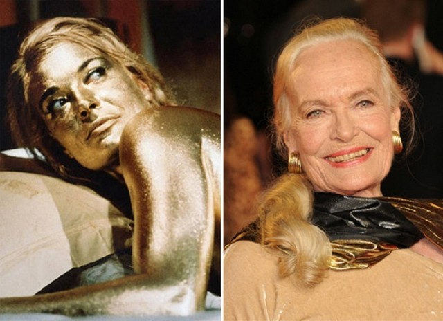 Shirley Eaton young and old picture
