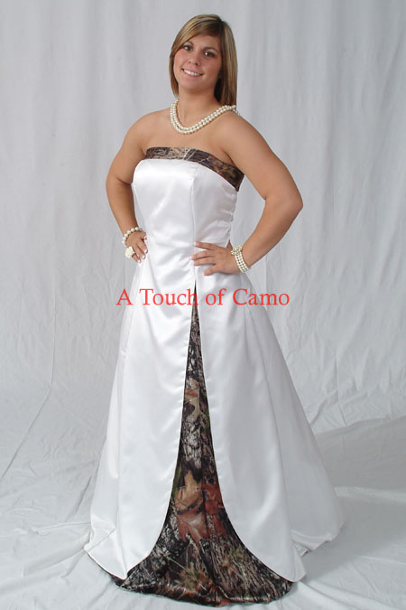White With Camo Wedding Dresses : Wedding dresses