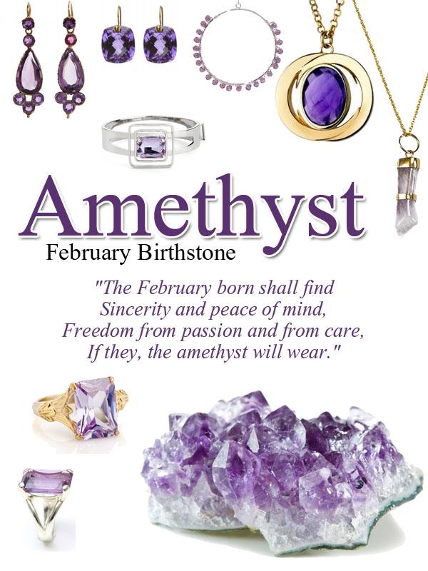 Amethyst Birthstone for FebruaryFebruary Birthstone Color