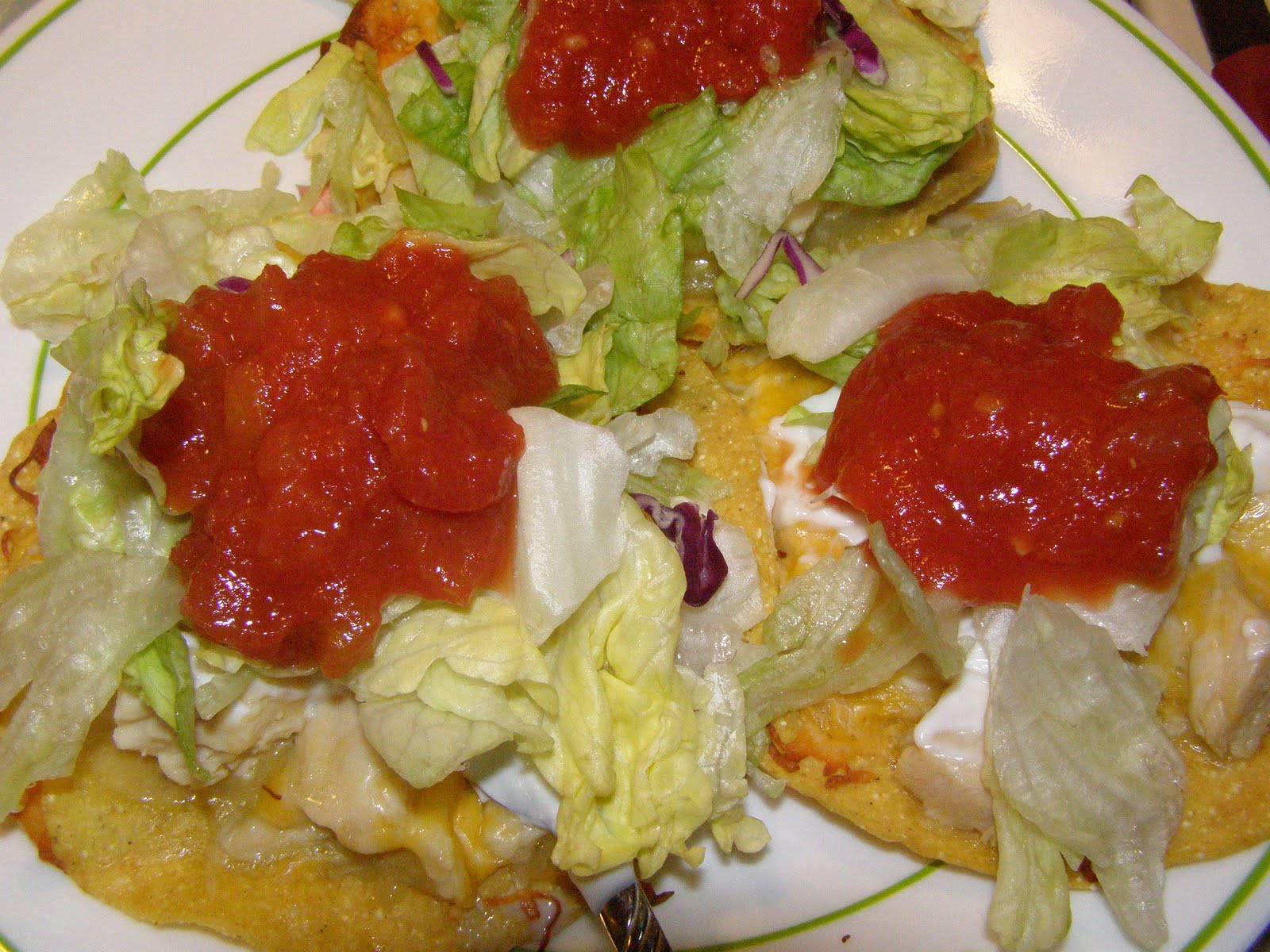 Laced With Love: Chicken Tostadas