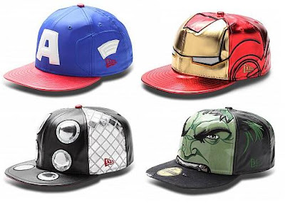 The Avengers Hat Collection by New Era - Captain America, Iron Man, Thor & Hulk