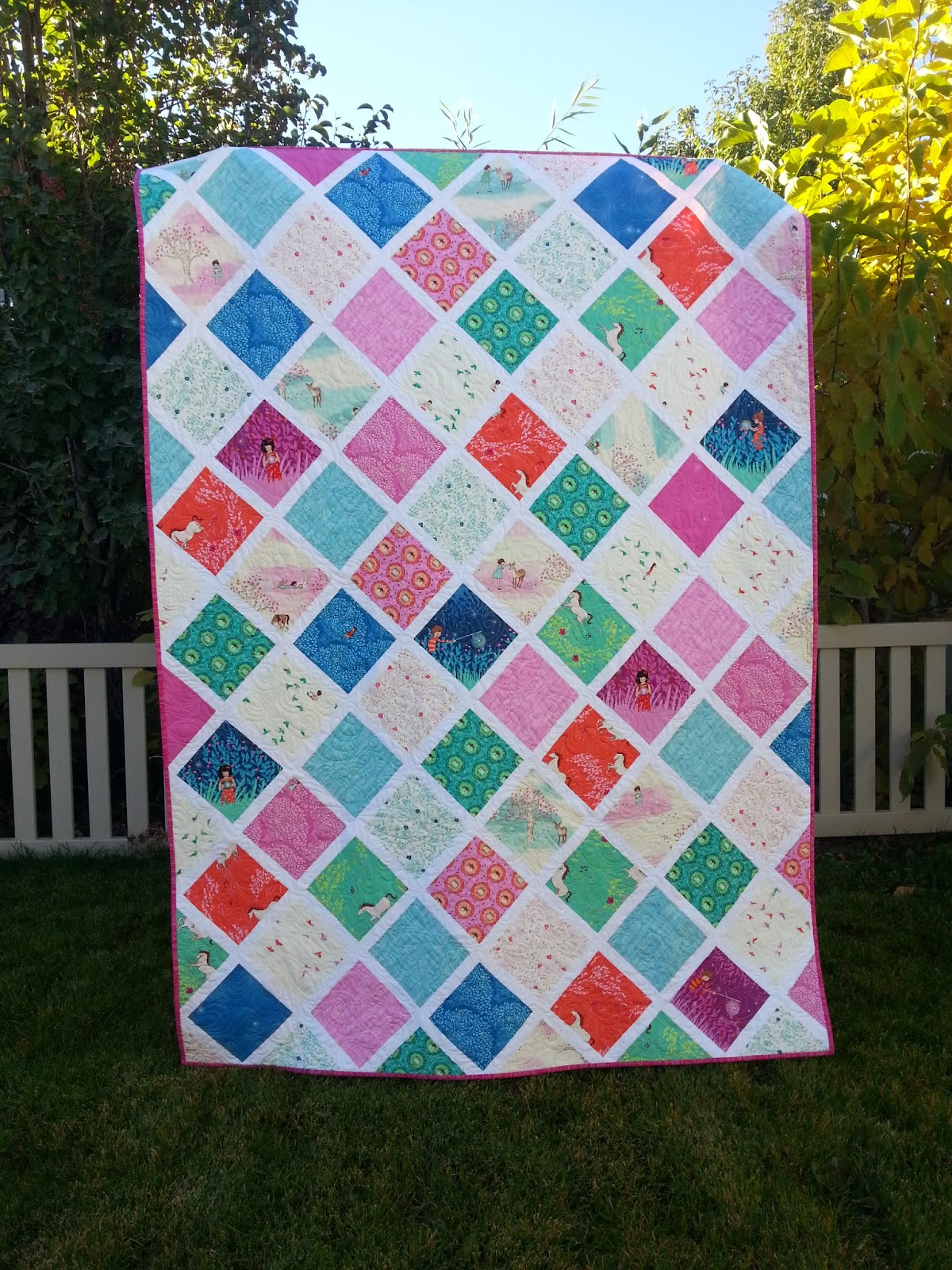 Wee Wander Lattice Quilt Full View