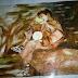 لوحة الفتى و الفقوس للفنّانة سامية مسلم