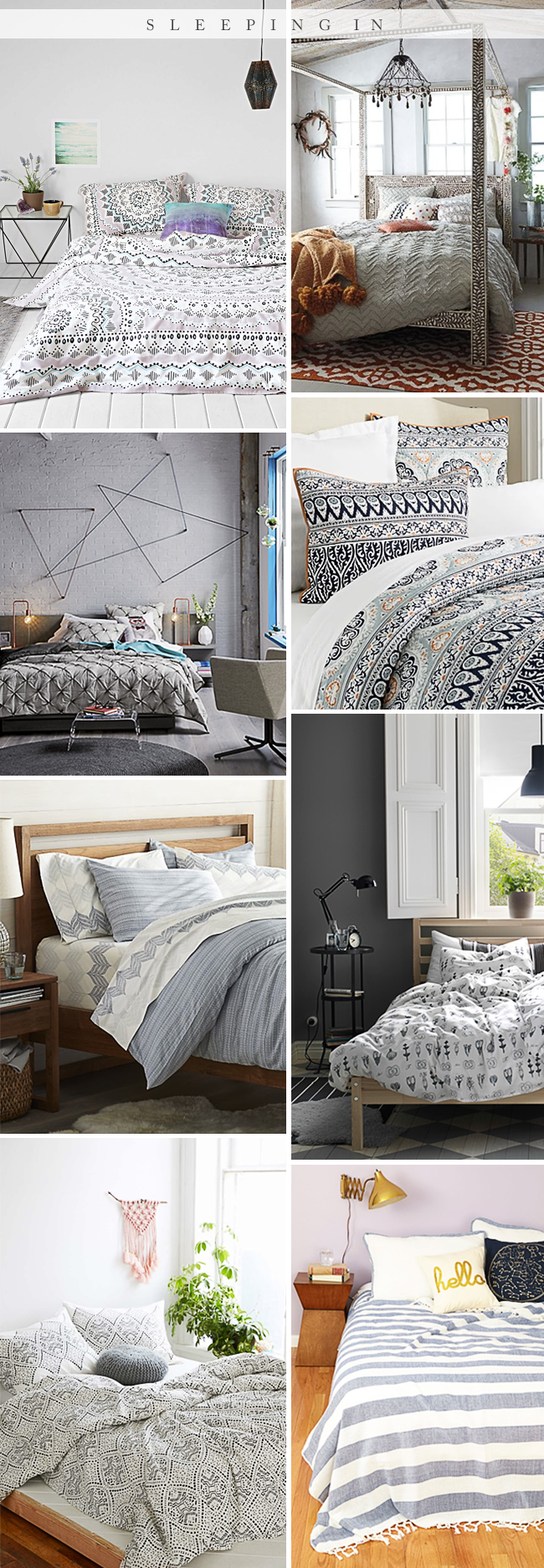 Pretty Boho Bedding // Bubby and Bean