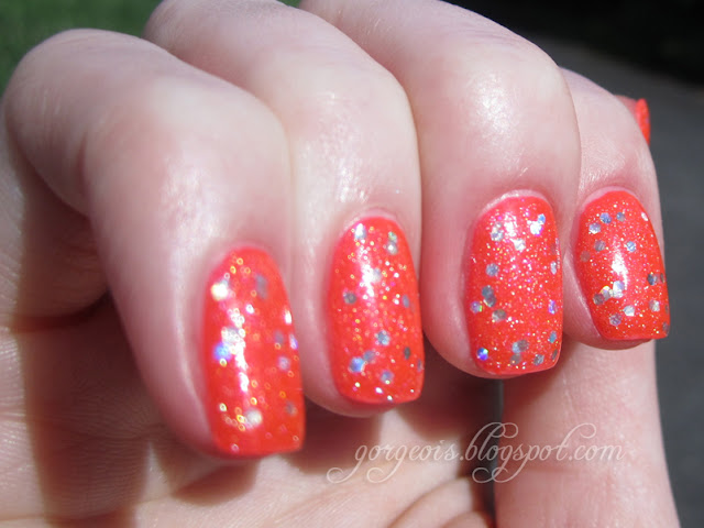 Venique Twinkling Snow over China Glaze Surfin' for Boys