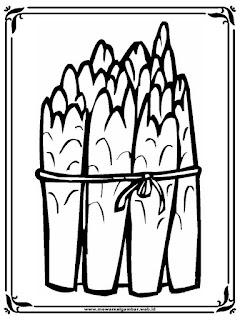 gambar mewarnai seikat sayur asparagus