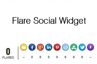 How to Add Flare Social Widget To Blogger Blogs