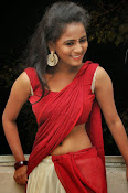 Chaithra setti sizzling in half saree-thumbnail-11