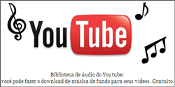 Biblioteca de áudio do Youtube