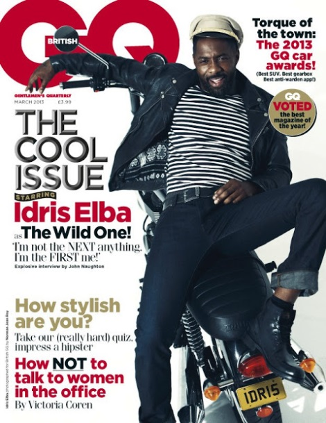 Idris Elba by Norman Jean Roy for British GQ March 2013