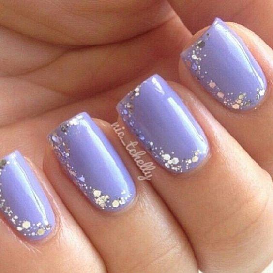 formal nail art ideas in purple