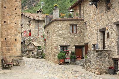 Typical stone houses in Beget