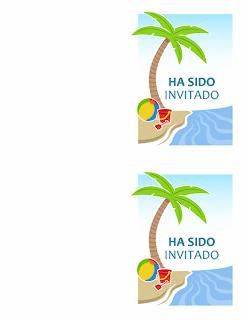 Tarjetas de invitación fiesta de verano