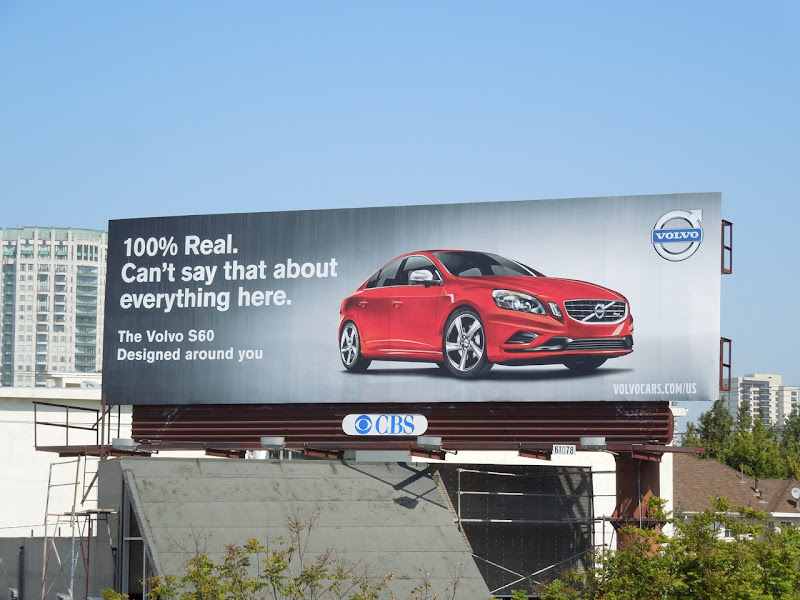 Volvo 100% real billboard
