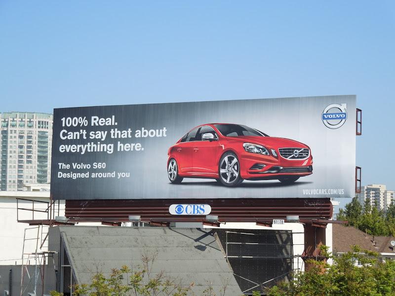 Volvo 100% real billboard