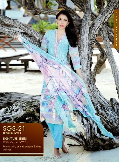 Gul Ahmed Signature Series Lawn Collection