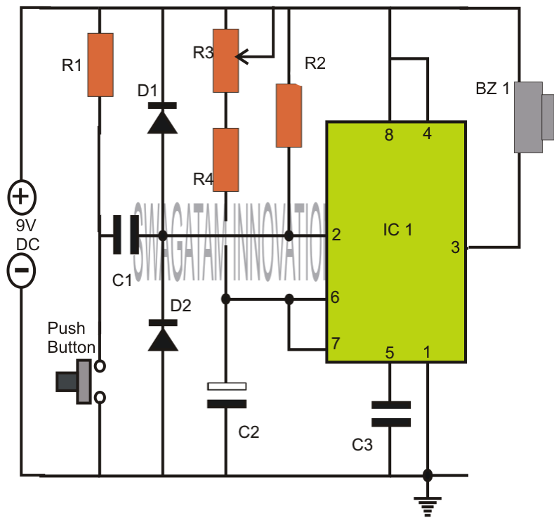 How To Build 24 Hours Timer Circuit Cd4060 further 3 Wire Defrost Termination Switch Wiring additionally Tone Control Tube   Circuit With 12au7 also Solid State Time Delay Relay Wiring Diagram moreover 10 Second Fan On Delay Time By Transistor. on on delay timer circuit diagram