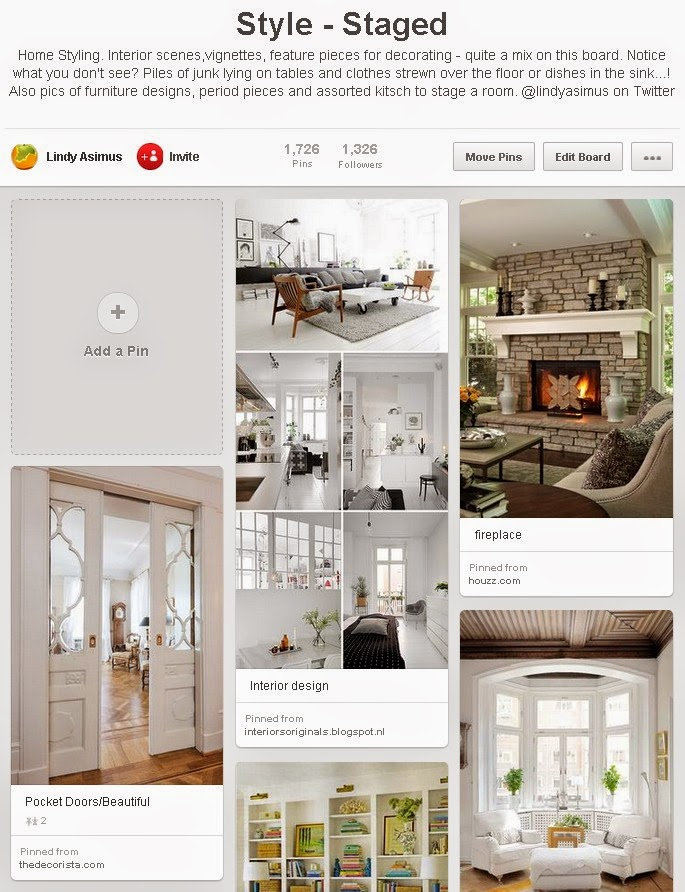 styled room design example  pins on Pinterest for business to showcase