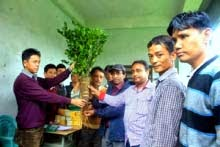 GTA horticulture department distributed orange saplings