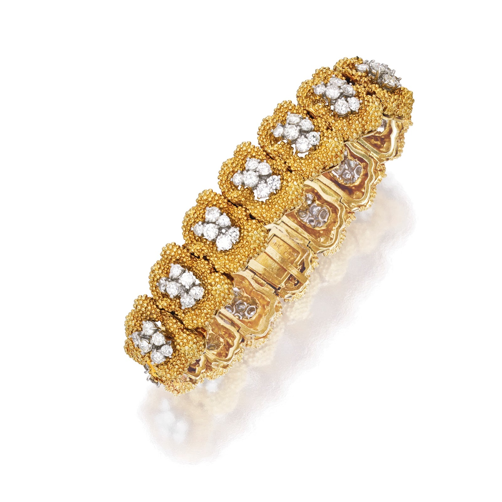 square rose cm champaign stones shaped en gold bangle crystal bracelet classy plated hires