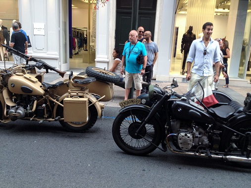 Motorbikes in the Cannes Liberation Parade