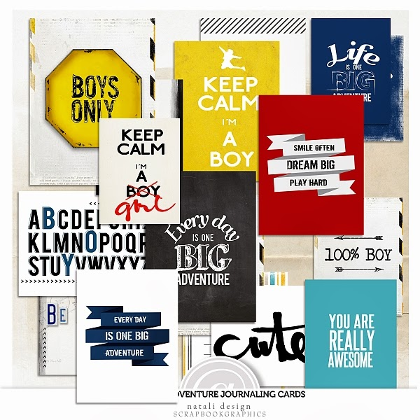 http://shop.scrapbookgraphics.com/Boy-s-adventure-Journal-Cards.html
