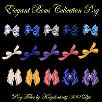 Elegant bows collection PNG, PNG tubes, digital scrapbooking, digi kits