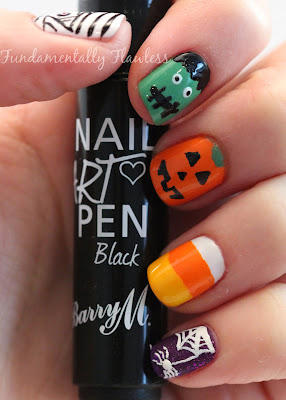 Fundamentally Flawless: Barry M Halloween Nail Art