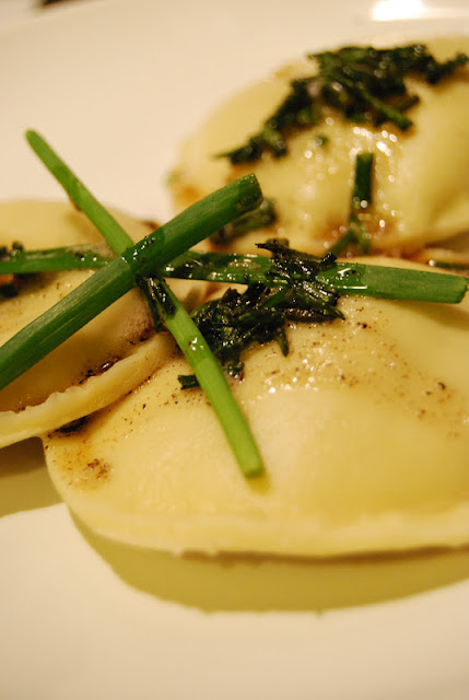 Mushroom and Spinach Ravioli with Chive Butter Sauce ...