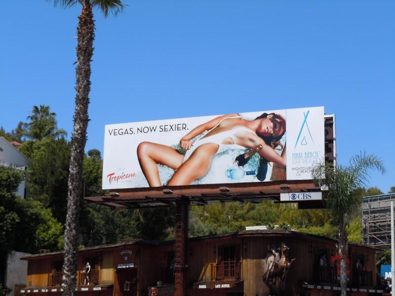 Sexy Nikki Beach Vegas bikini billboard