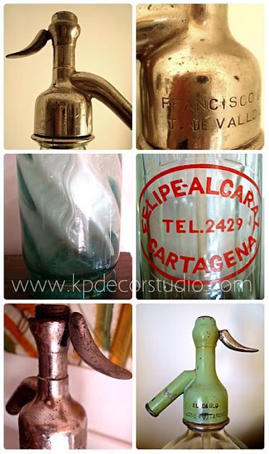Venta de sifones antiguos en buen estado. Botellas de cristal antiguas, envases y recipientes antiguos decorativos