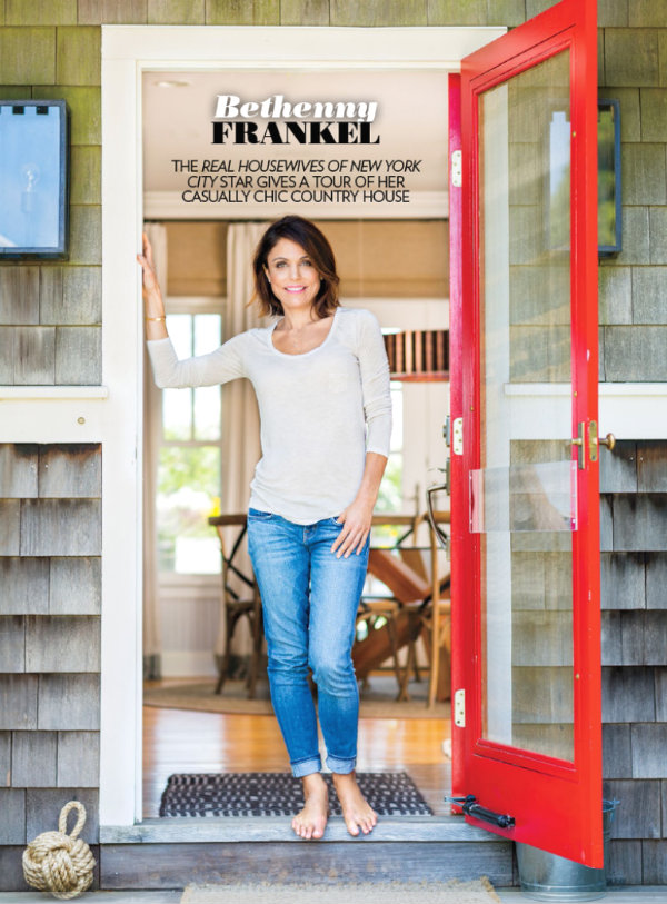 bethenny frankels new hamptons home is very down to earth and relaxed she uses accents of her signature skinnygirl red on the front door and throughout - Tour Of The Hamptons