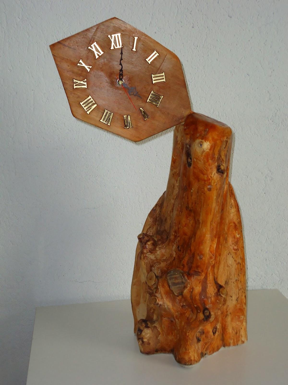 Restaurange reloj r stico y artesanal - Reloj pegado pared ...