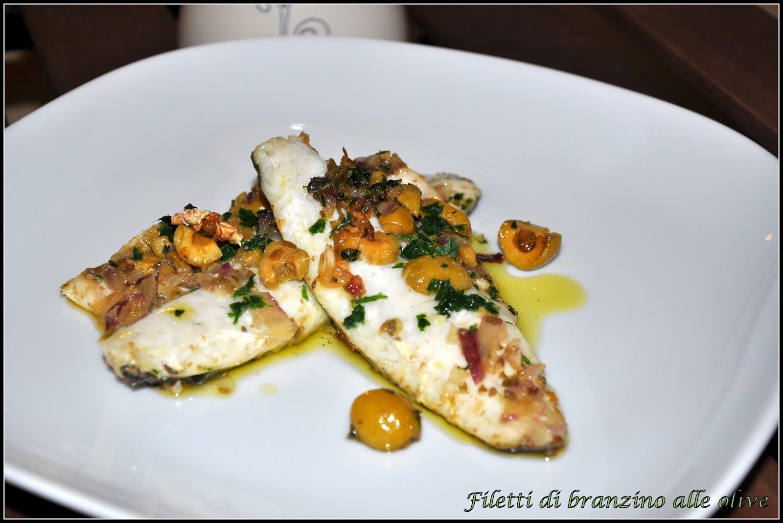 Filetti di branzino alle olive | La cucina di zia Ale